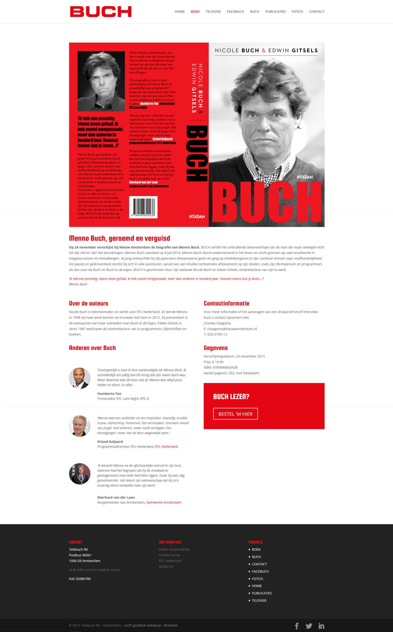 Biografie Menno Buch
