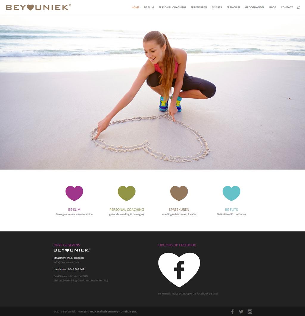 homepage BeYOUniek website