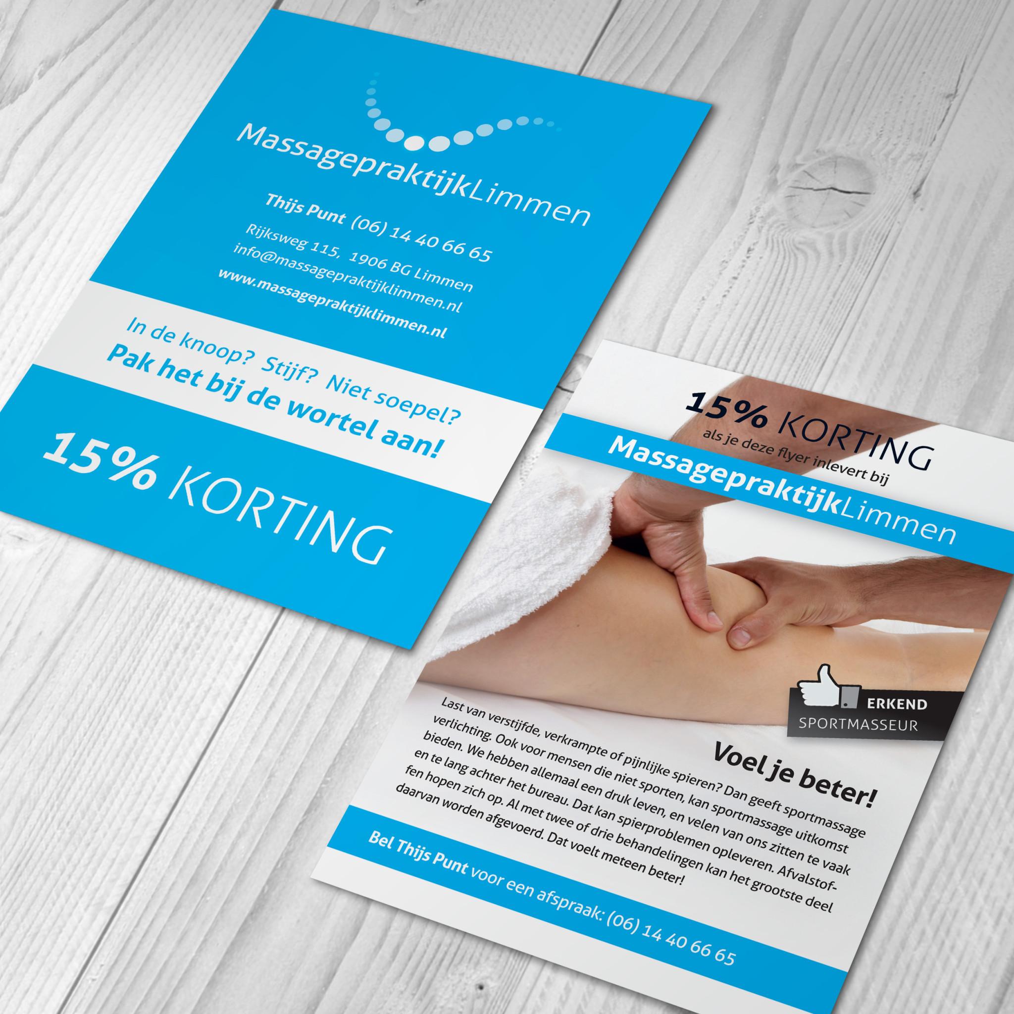 A5 flyer, Massagepraktijk Limmen