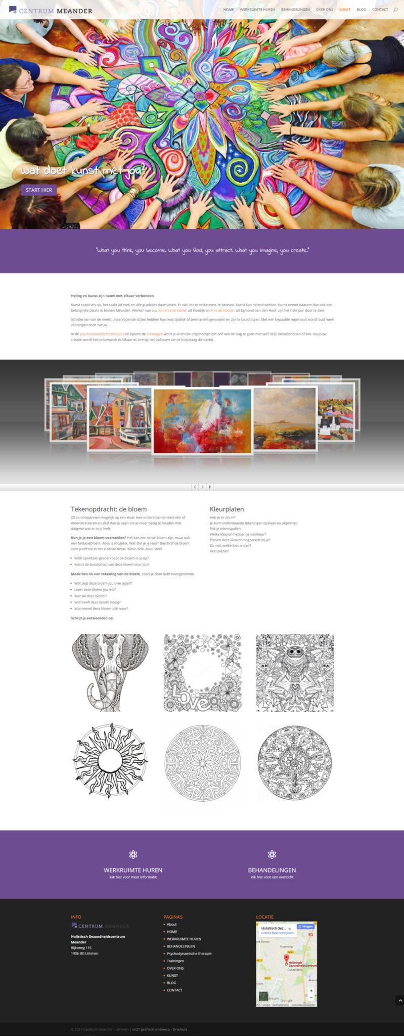 Meander website kunst pagina