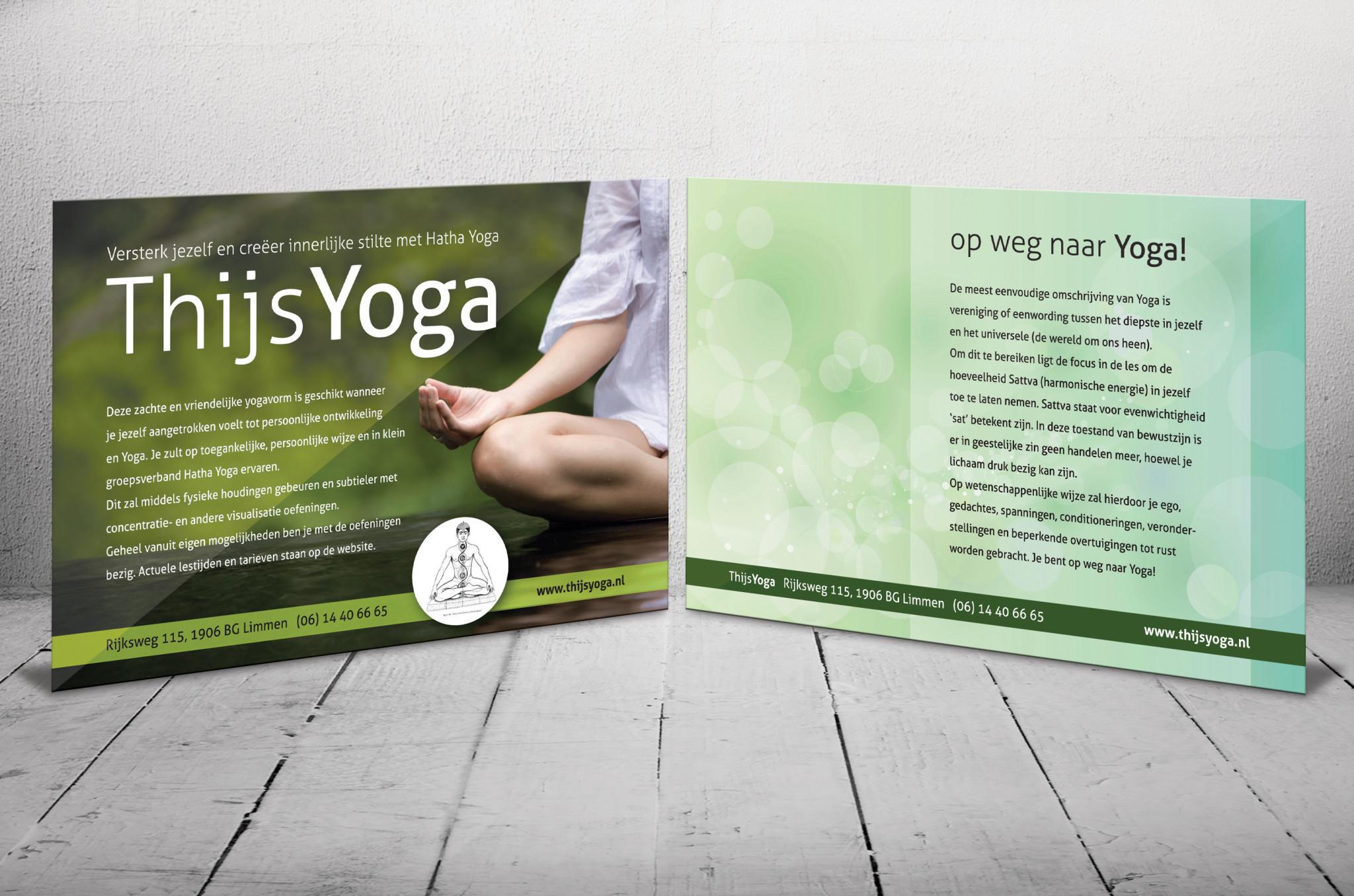 A5 flyer, Thijs Yoga